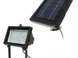 Прожектор на солнечной батарее 54 LED с датчиком, светильник