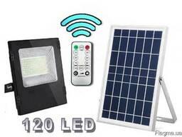 Прожектор светильник на солнечной батарее 120LED 30W c пульт
