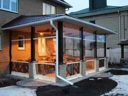 Прозрачные шторы для беседок, для веранды и террасы
