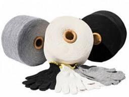 Пряжа смесовая окрашенная для производства перчаток и носков
