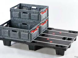 Ящик 26-й складной пластиковый для овощей и фруктов