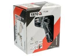 Пульверизатор YATO HVLP 1. 4 мм з верхнім баком 0. 6 л