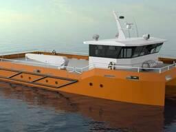 Рабочее судно катамаранного типа