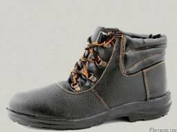 Рабочие ботинки клеепрошив, формованная резина