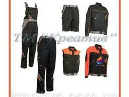 Рабочие комбинезоны, куртки, жилеты, штаны и шорты под заказ