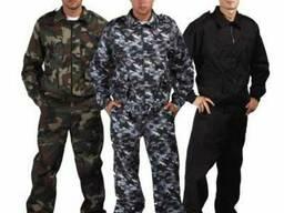 Рабочие костюмы для военных,охраны, камуфлированные,мужские,