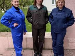 Рабочие костюмы с полукомбинезонами пошив спецодежды
