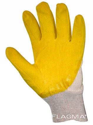 Рабочие перчатки х/б с нитрилом