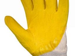 Рабочие перчатки х/б с нитрилом - фото 1