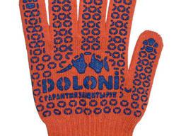 Перчатки трикотажные (плотные) с ПВХ точкой Doloni 526
