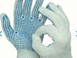 Рабочие перчатки трикотажные с ПВХ точкой. Рабочие перчатки трикотажные с ПВХ точкой