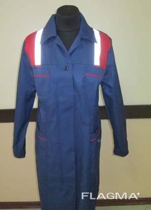 Рабочий халат пошив рабочих халатов халат сигнальный спецодежда сигнальная