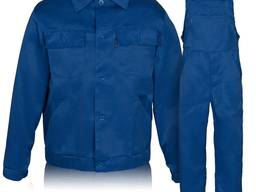 Костюм рабочий с полукомбинезоном синий