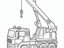 Работа крана автомобильного. 10Т, 25 Т