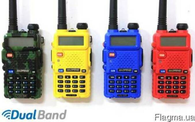 Рация Baofeng UV-5R (green, red, blue, yellow)