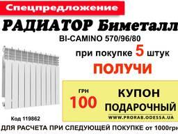 Радиатор 570/96 Bi-Camino