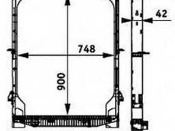 Радиатор Ивеко Евротеч, Евростар. Новый 500326345