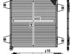 Радиатор кондиционера 1629115 Nissens DAF XF EVRO 3-5