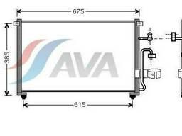 Радиатор кондиционера Chevrolet Evanda 2002 - 2004 г....
