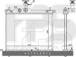 Радиатор охлаждения двигателя Hyundai i10 (PA) 1. 1 автомат