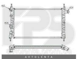 Радиатор охлаждения двигателя Opel Kadett E (FPS) FP 52. ..