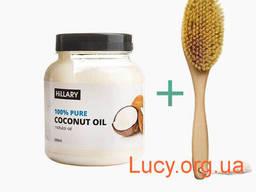 Рафинированное кокосовое масло 500мл + щётка для сухого. ..