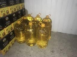Рафинированное подсолнечное масло в пэт-бутылке 10 л
