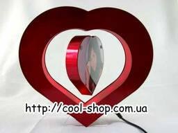 Рамка в форме сердца левитирующая, магнитная фоторамка