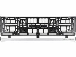 Рамка пластикова срібна під номер авто Vorel 529 х 132 х 11 мм