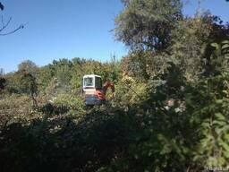 Расчистка участка удаление кустарников деревьев вывоз