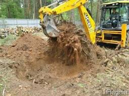 Расчистка территории под строительство.
