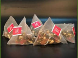 Расфасовка чая в нейлоновую пирамидку