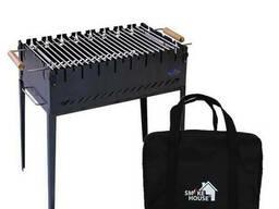Раскладной мангал чемодан на 8 шампуров из стали с сумкой. ..