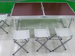 Стол туристический раскладной со стульями Folding Table