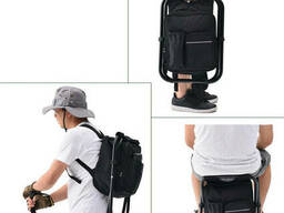 Раскладной стул-рюкзак с термосумкой 3 в 1 Black