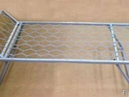 Раскладушка, раскладная металлическая кровать пружинная
