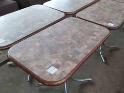 Распродажа бу столы для кафе на хромированной основе