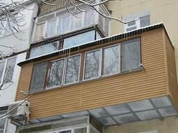Расширение балконов, усиление балконов, сварка, обшивка