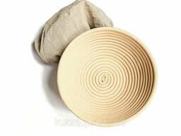 Форма для расстойки из ротанга на 0, 75 кг, (20см*7) с тканевым чехлом