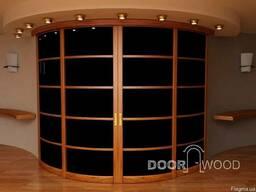 Раздвижные двери и системы, радиусные раздвижные. Из дерева.