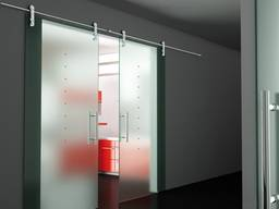 Раздвижные стеклянные двери от производителя