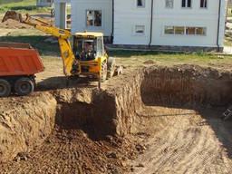 Разработка грунта, копка котлованов