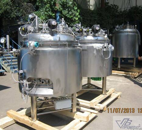 Реактор для инъекционных растворов объемом 700 л. с программ