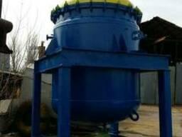 Реактор эмалированный 6, 3 м. куб. синяя без сколов.