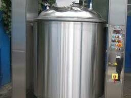Реактор объемом 1000 л с механизмом подъема, встроенным гомо