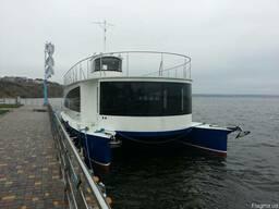 Речное пассажирское судно. Катамаран на (30 мест)