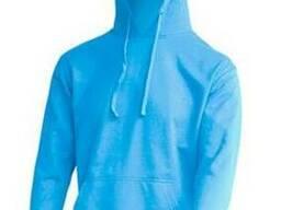 Чоловічий реглан з капюшоном колір голубий