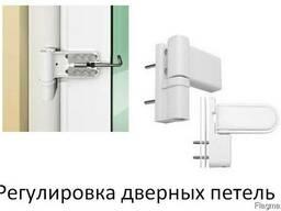 Регулировка дверных петель в Киеве.