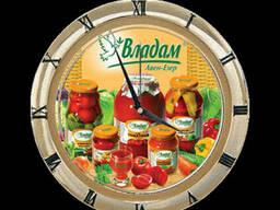 Реклама на настенных часах