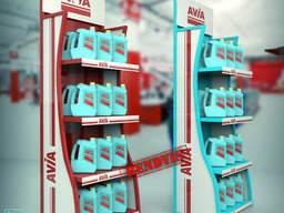 Рекламные торговые стойки для хозтоваров AVIA
